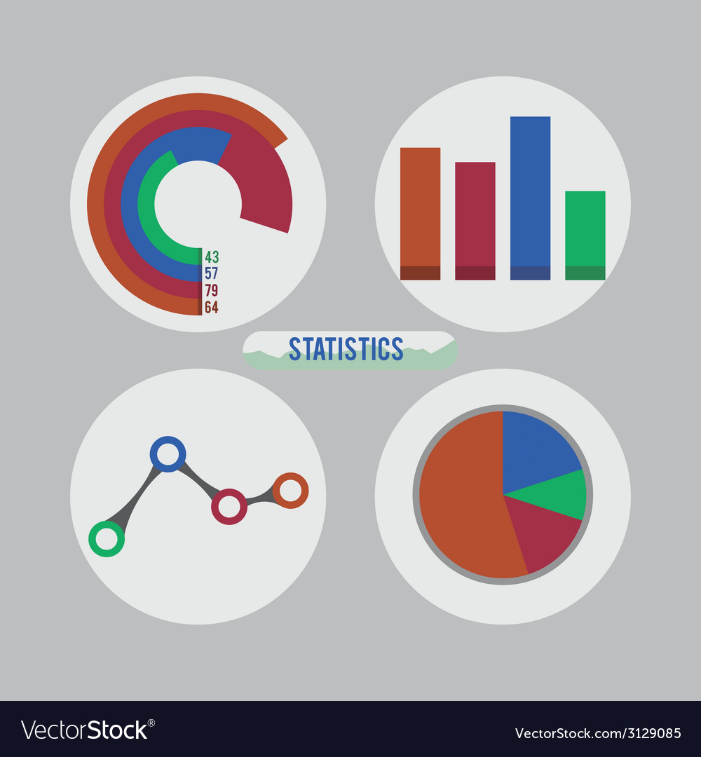 Statistics design vector | Price: 1 Credit (USD $1)