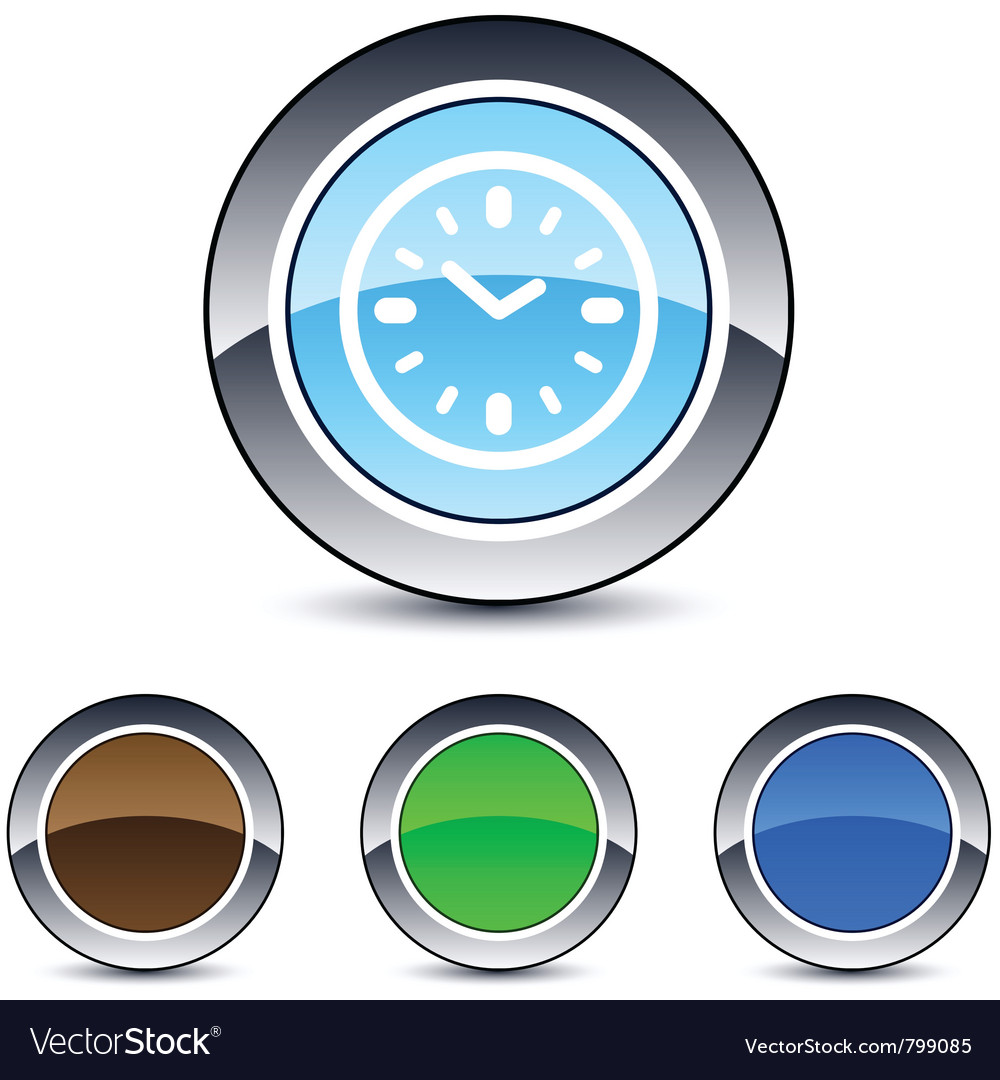 Time round button vector | Price: 1 Credit (USD $1)