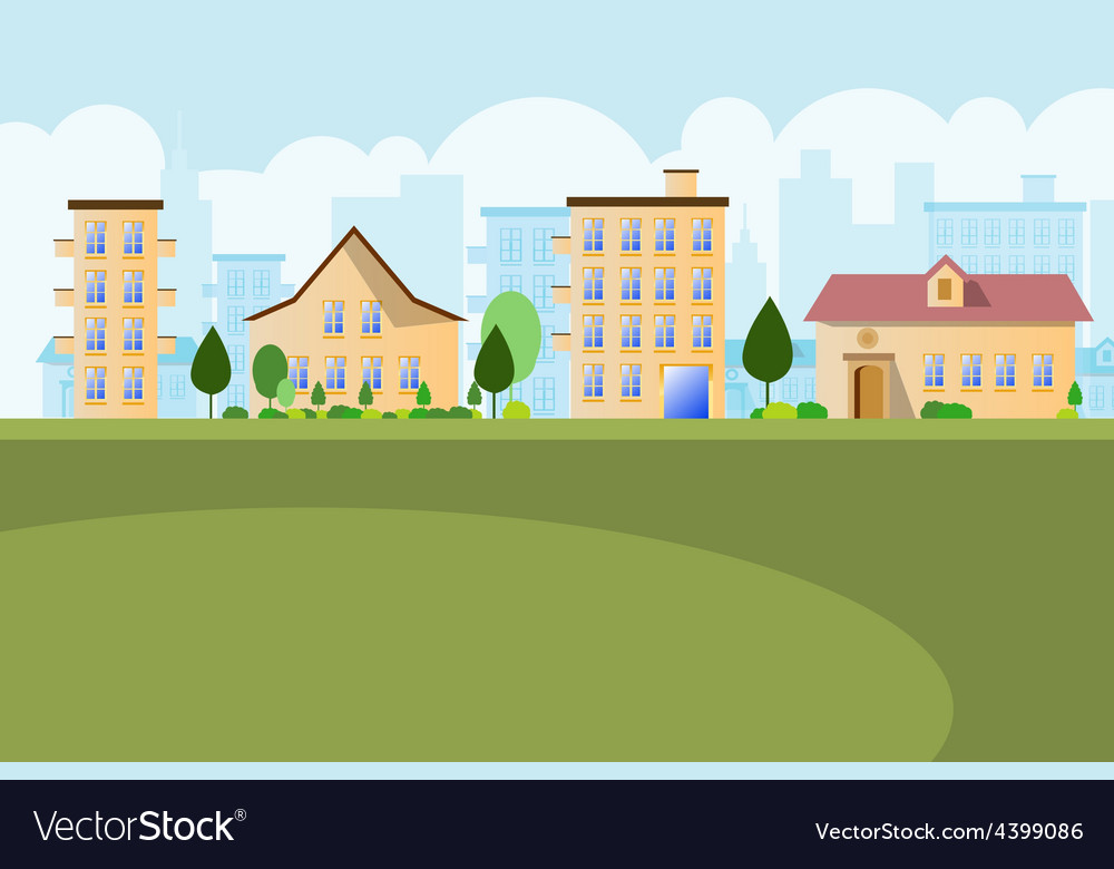 Buildings landscape background vector | Price: 3 Credit (USD $3)