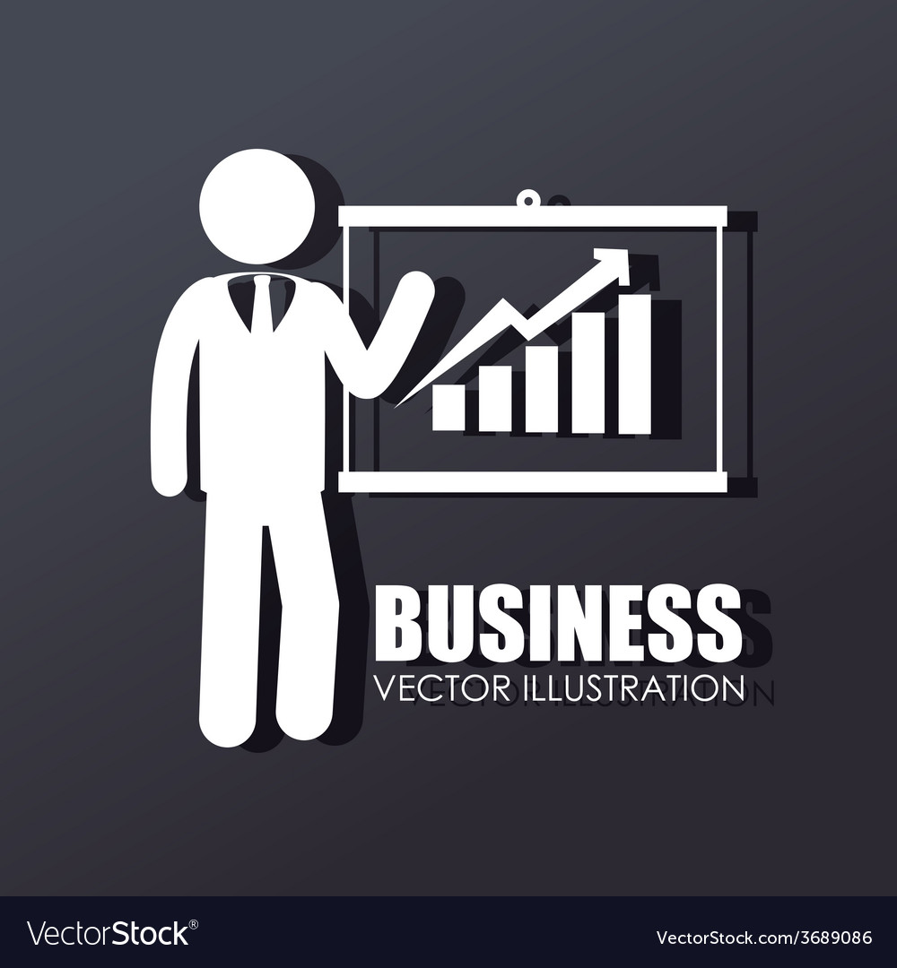 Business design over gray background vector | Price: 1 Credit (USD $1)