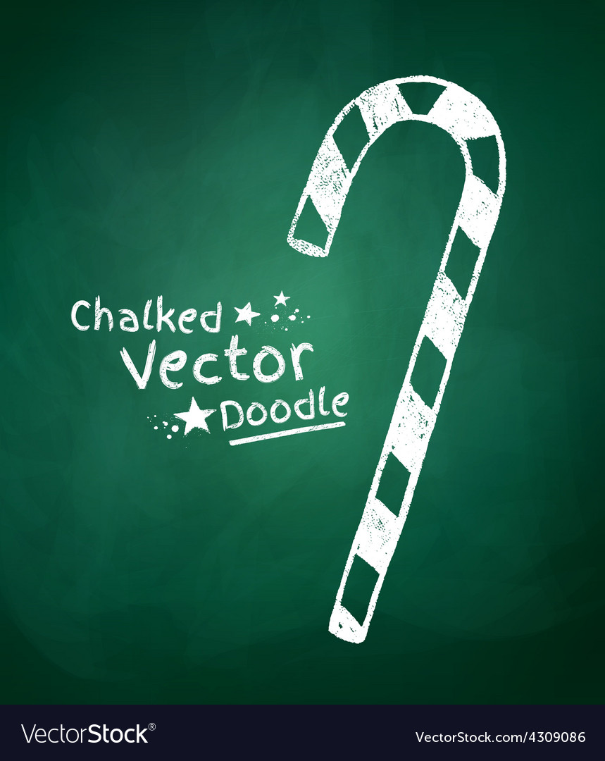 Chalkboard drawing of candy vector | Price: 1 Credit (USD $1)