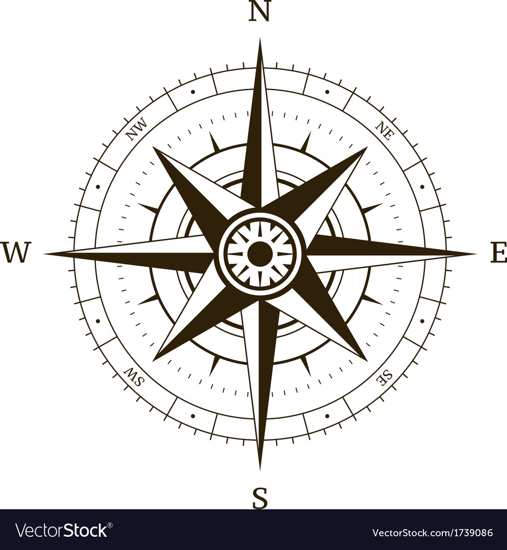 Compass wind rose vector | Price: 1 Credit (USD $1)