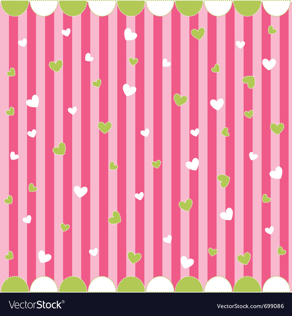 Cute seamless pattern with little hearts vector | Price: 1 Credit (USD $1)