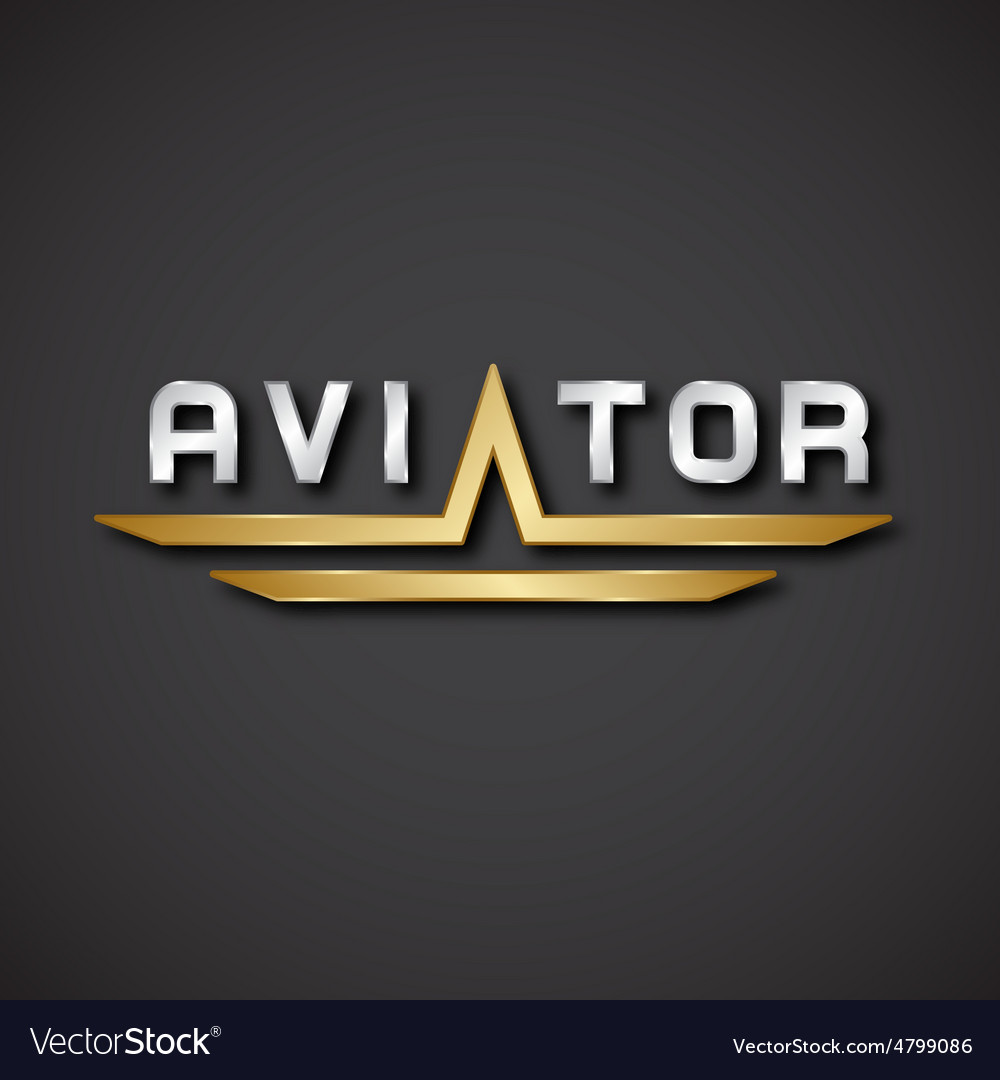 Eps10 aircraft aviator inscription icon vector | Price: 1 Credit (USD $1)