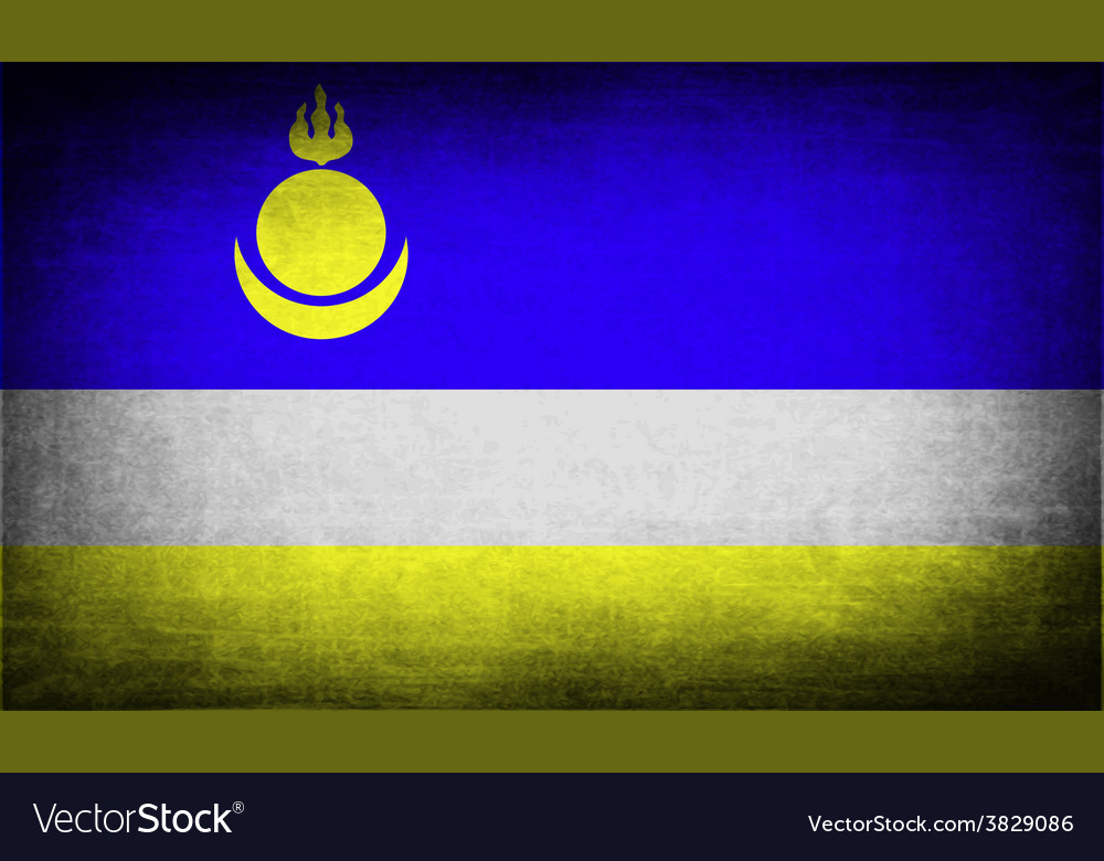 Flag of buryatia with old texture vector   Price: 1 Credit (USD $1)