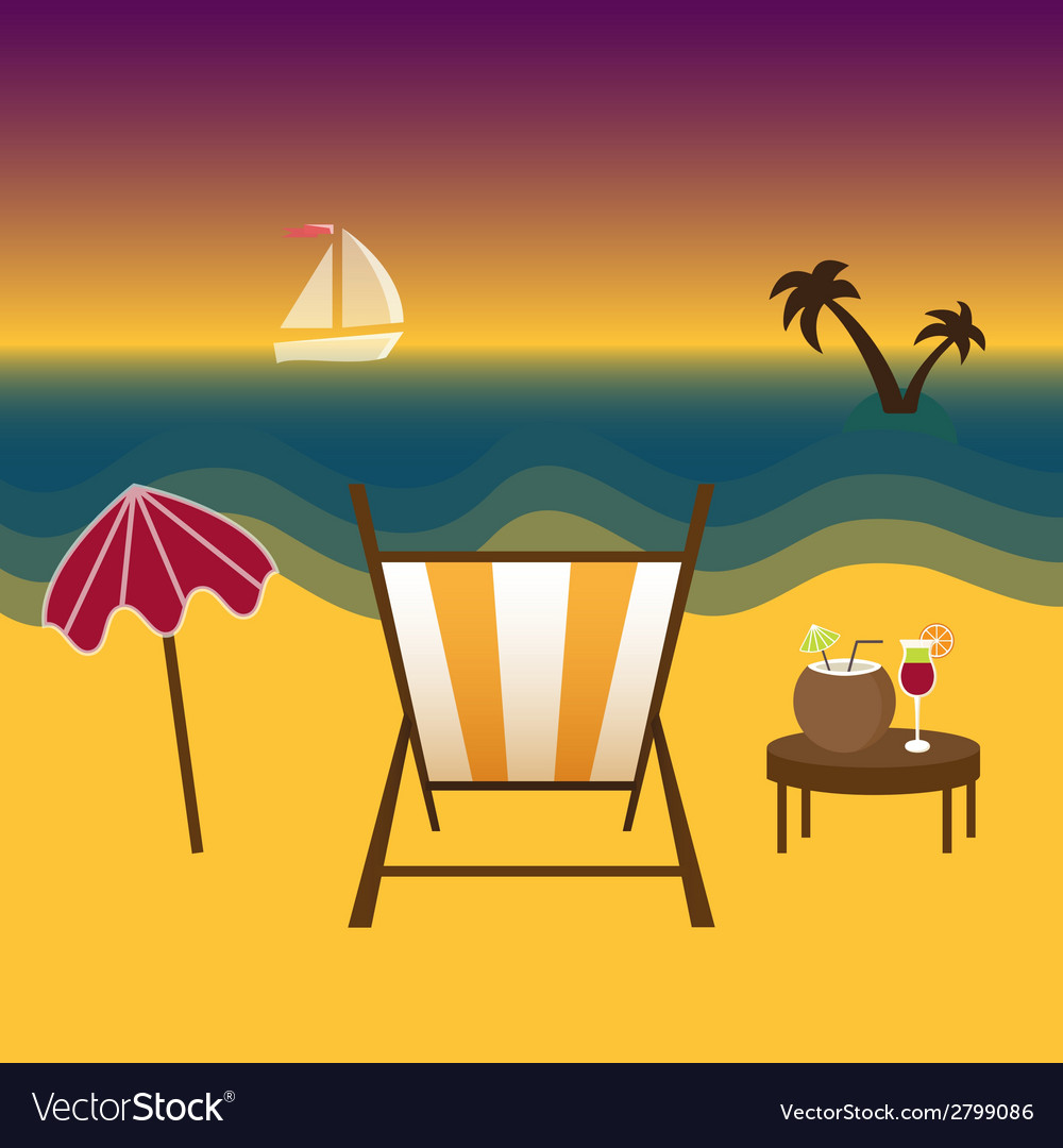 Freelancer paradise summer and vacation vector | Price: 1 Credit (USD $1)