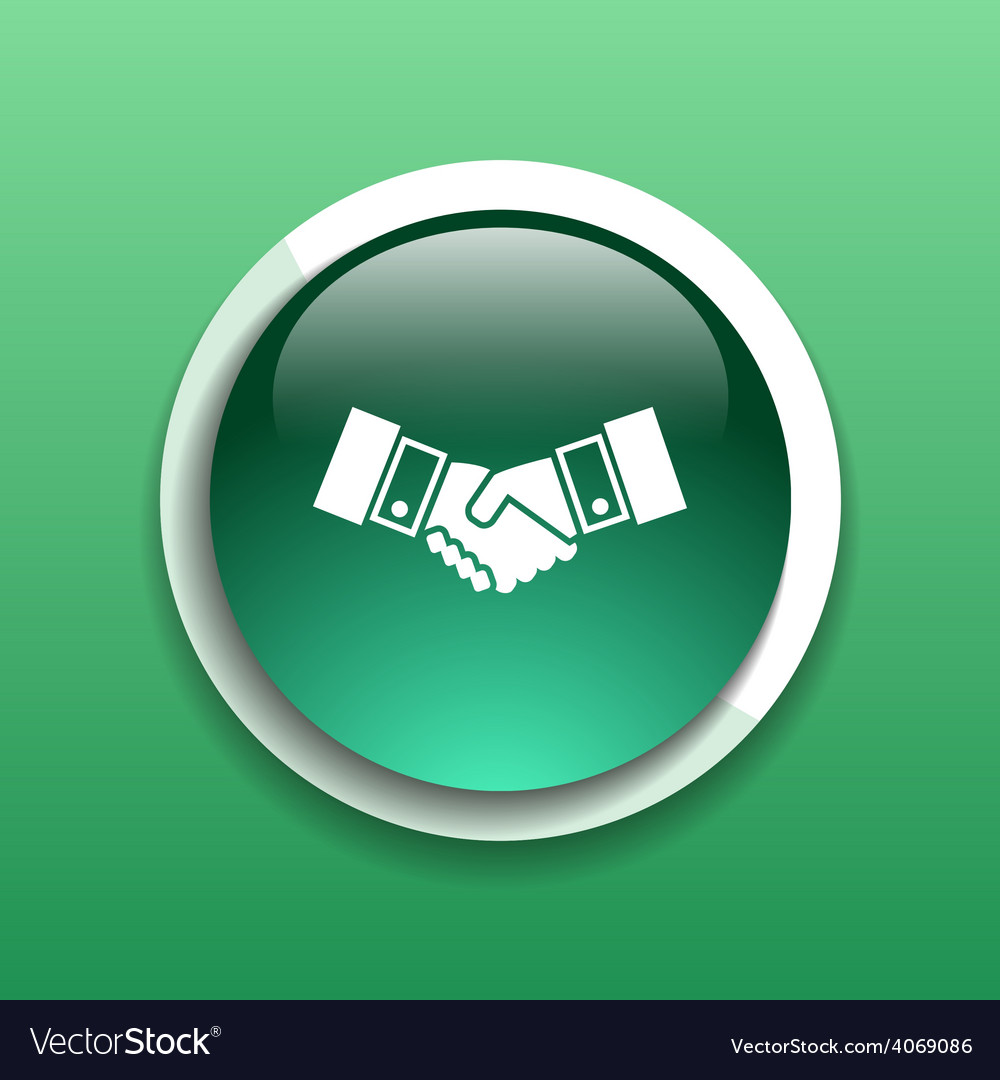 Handshake icon hake meeting business concept vector | Price: 1 Credit (USD $1)