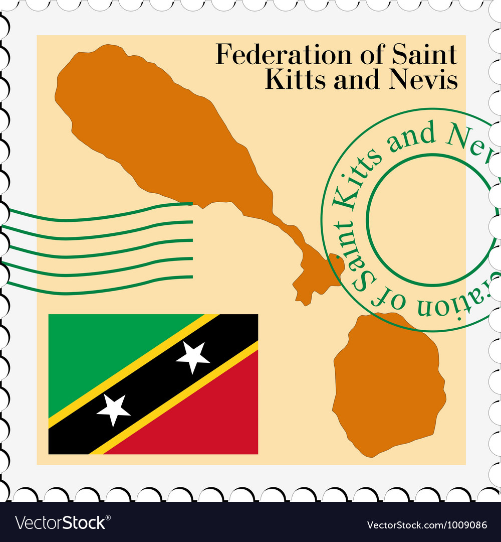 Mail to-from saint kitts and nevis vector | Price: 1 Credit (USD $1)
