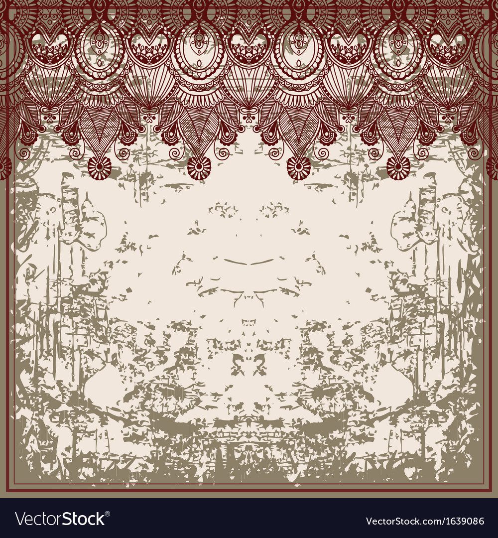 Ornamental floral pattern vector | Price: 1 Credit (USD $1)