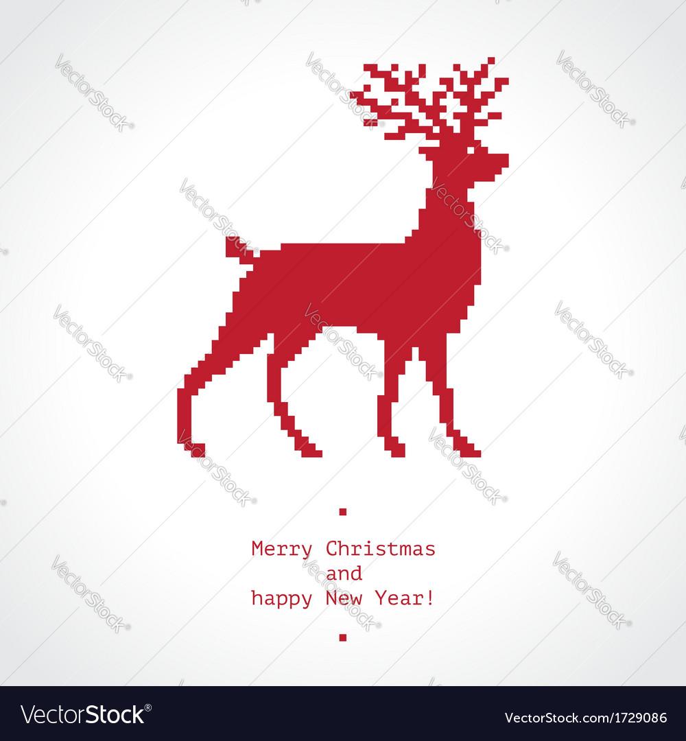 Pixel deer vector | Price: 1 Credit (USD $1)