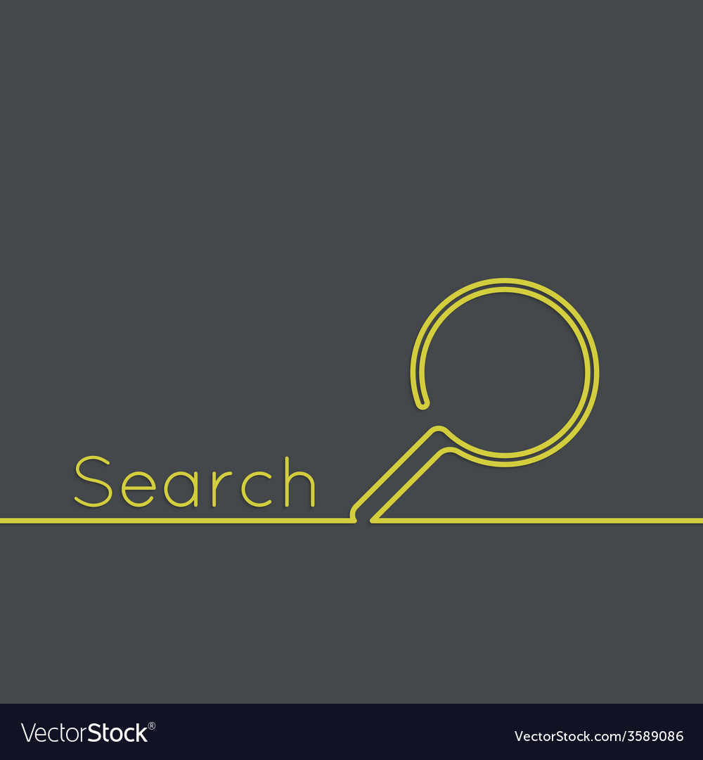 Search with a magnifying glass vector | Price: 1 Credit (USD $1)
