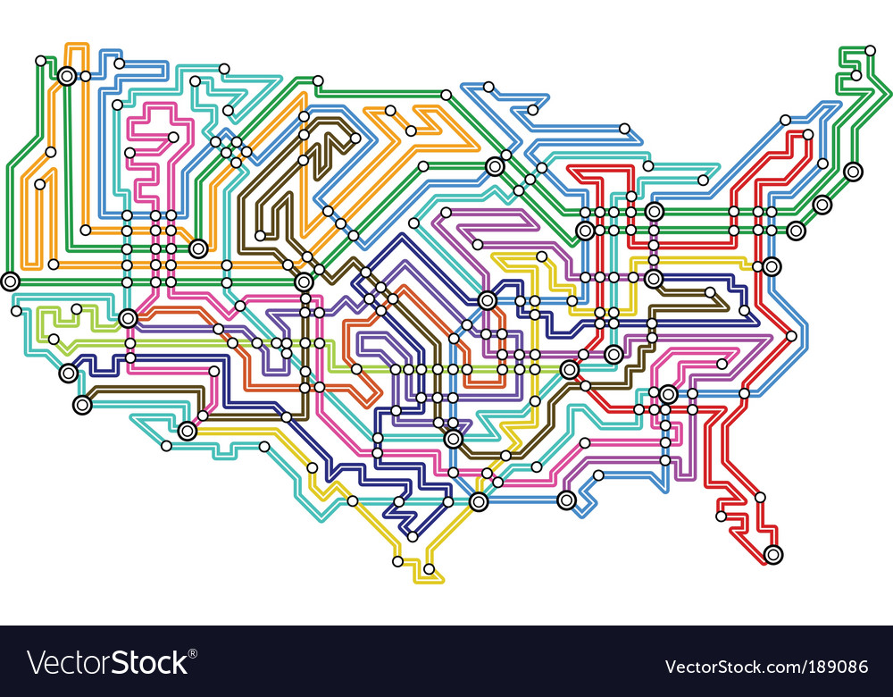 Usa underground vector | Price: 1 Credit (USD $1)