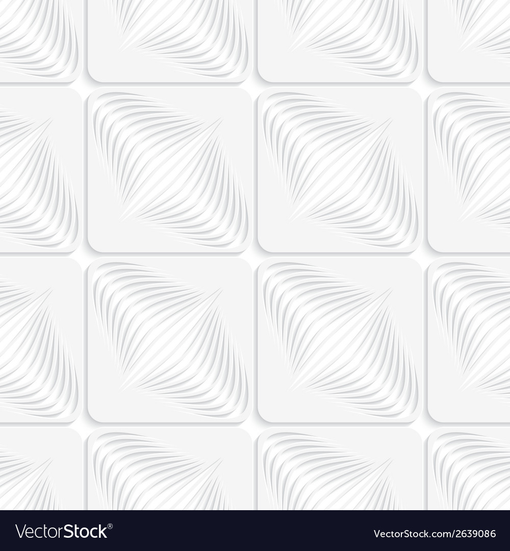 White diagonal onion shapes on squares seamless vector | Price: 1 Credit (USD $1)