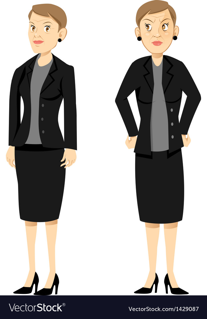 Angry female boss vector | Price: 1 Credit (USD $1)