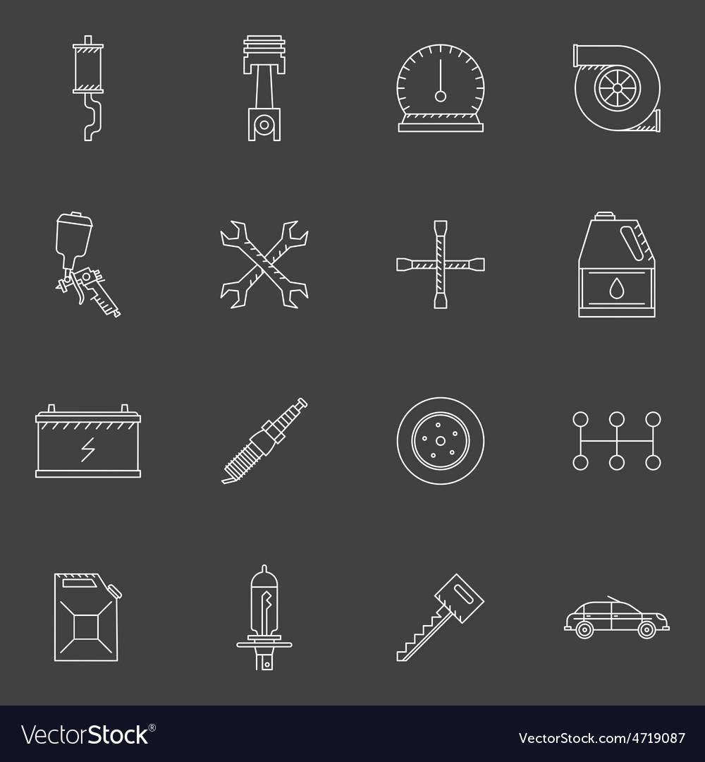 Auto service or repair icons set vector | Price: 1 Credit (USD $1)