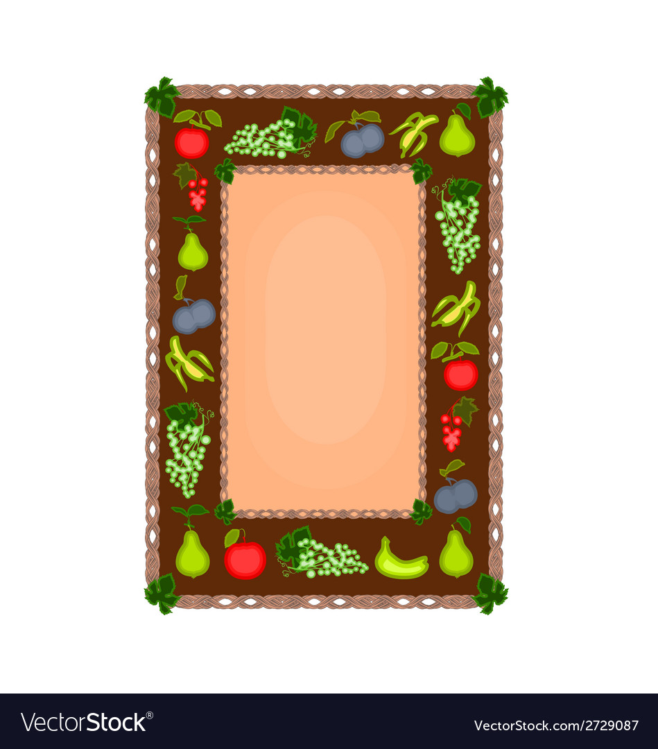 Decorative frame with fruit motif vector | Price: 1 Credit (USD $1)