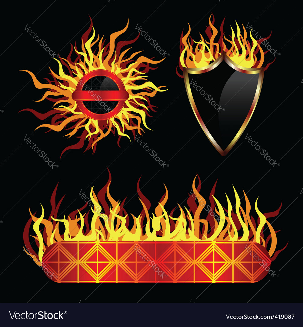 Fiery templates vector | Price: 1 Credit (USD $1)