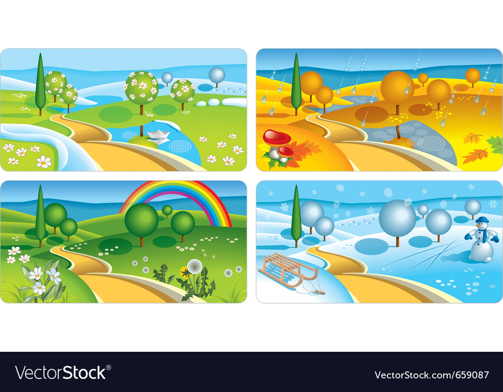 Four seasons vector | Price: 3 Credit (USD $3)