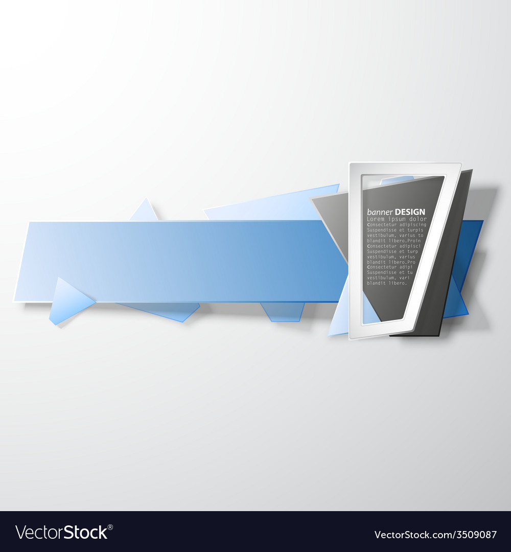 Infographic banner origami styled vector | Price: 1 Credit (USD $1)