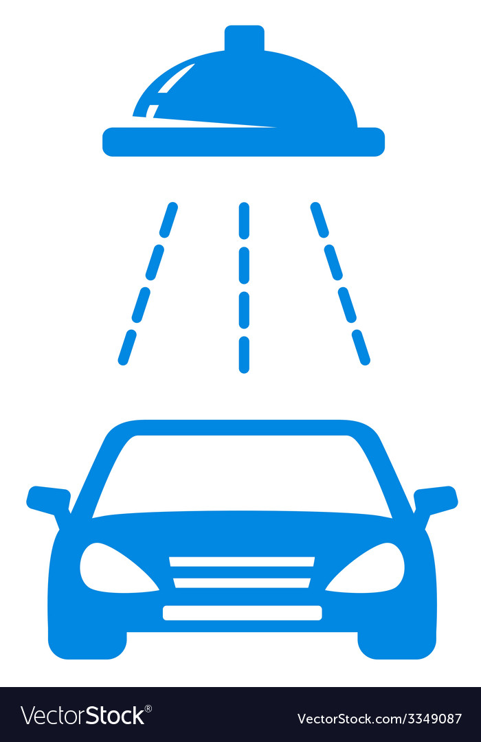 Isolated blue car wash icon vector | Price: 1 Credit (USD $1)