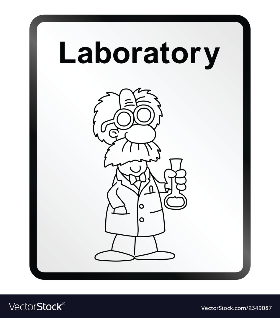 Laboratory information sign vector | Price: 1 Credit (USD $1)