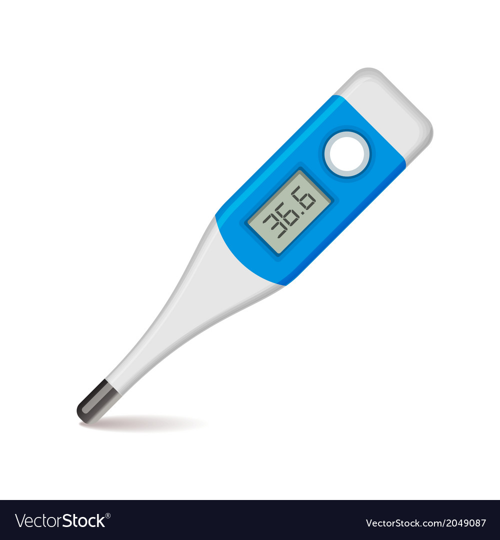 Medical thermometer on white background vector | Price: 1 Credit (USD $1)