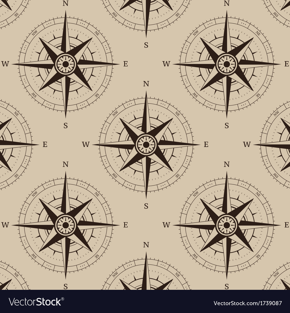 Navigation compass seamless vector | Price: 1 Credit (USD $1)