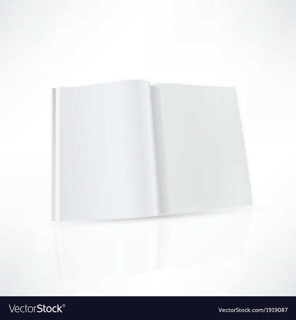 Open magazine double-page spread with blank pages vector | Price: 1 Credit (USD $1)