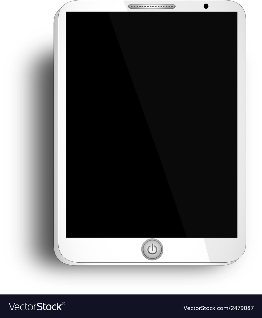 Tablet with blank screen - white tablet with blank vector | Price: 1 Credit (USD $1)