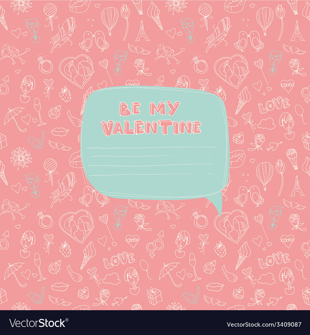 Valentines day seamless pattern with place for vector | Price: 1 Credit (USD $1)