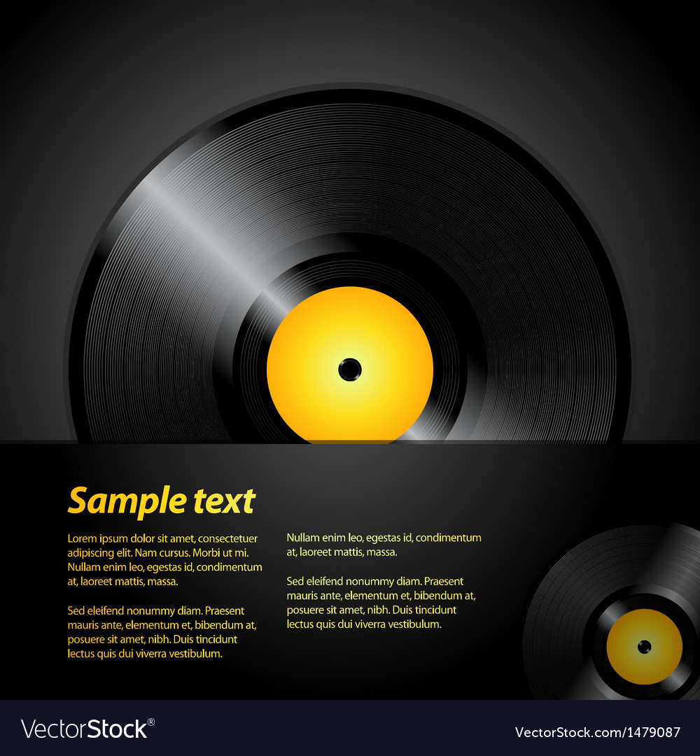 Vinyl record panel vector | Price: 1 Credit (USD $1)