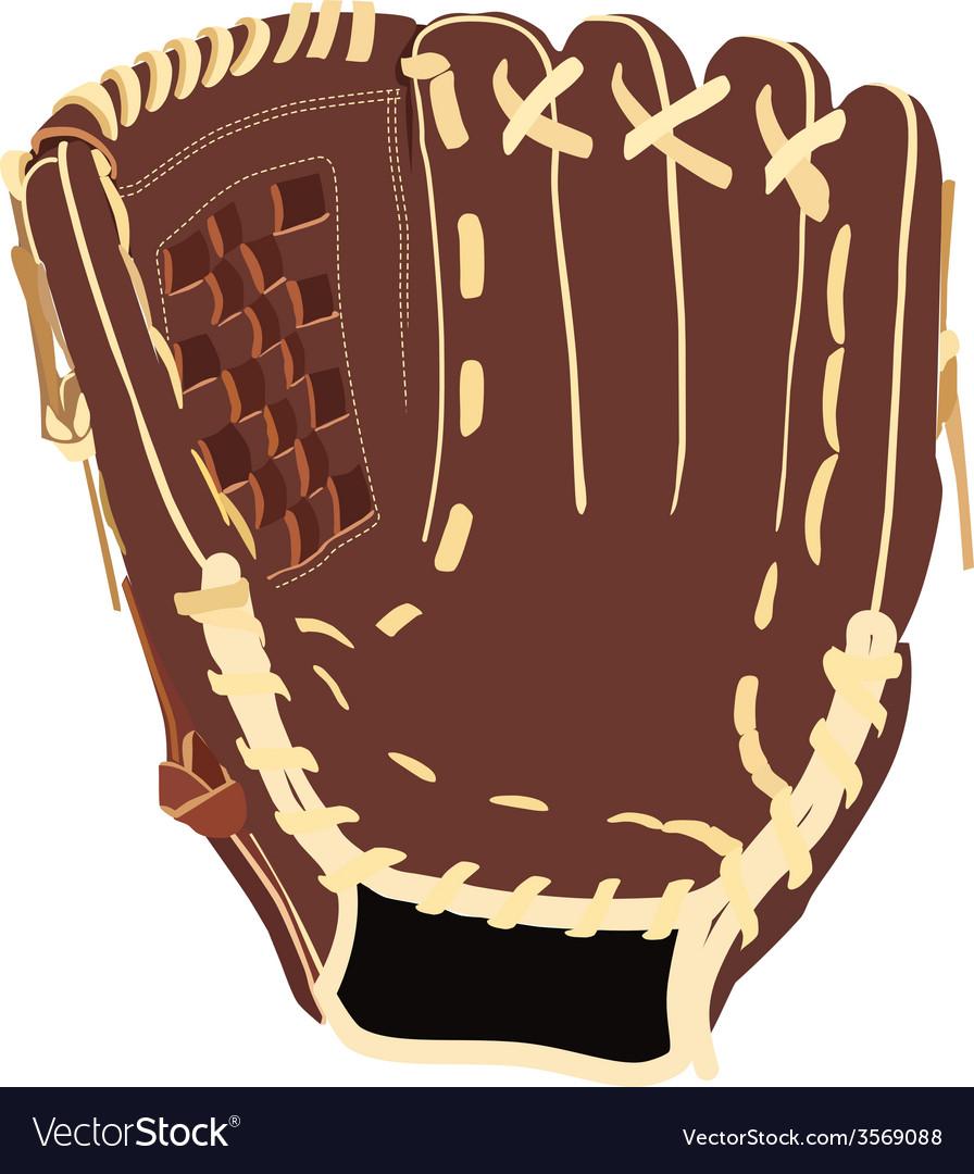 Baseball glove vector | Price: 1 Credit (USD $1)