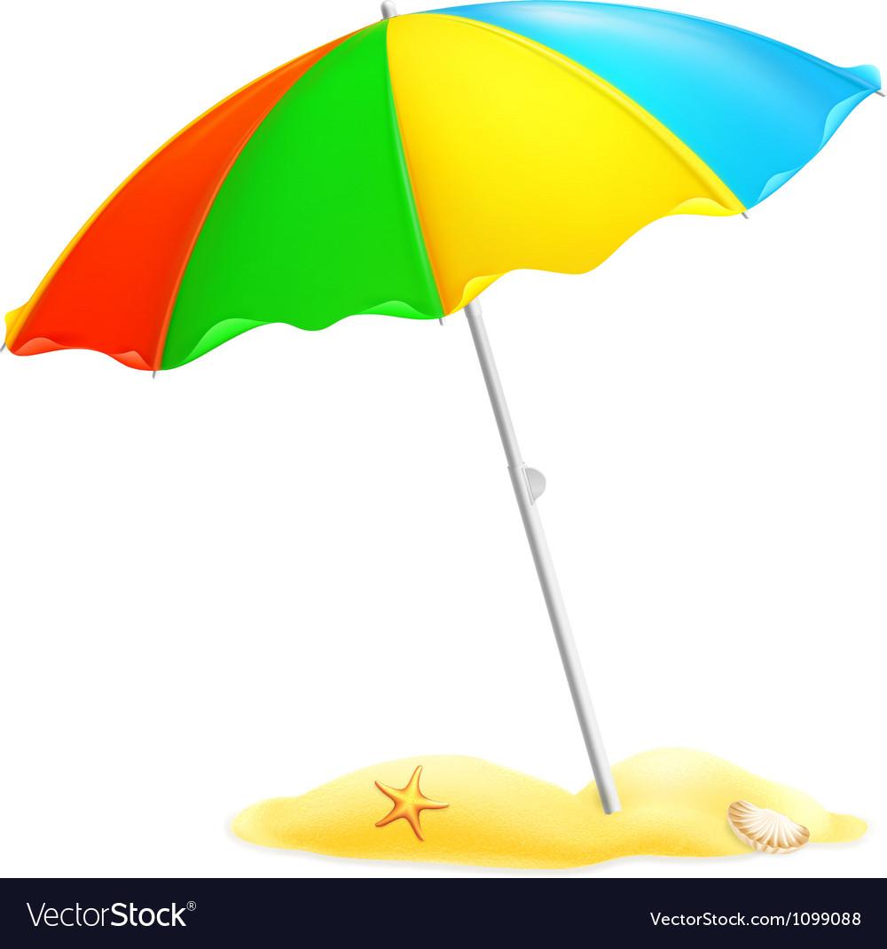 Beach parasol vector