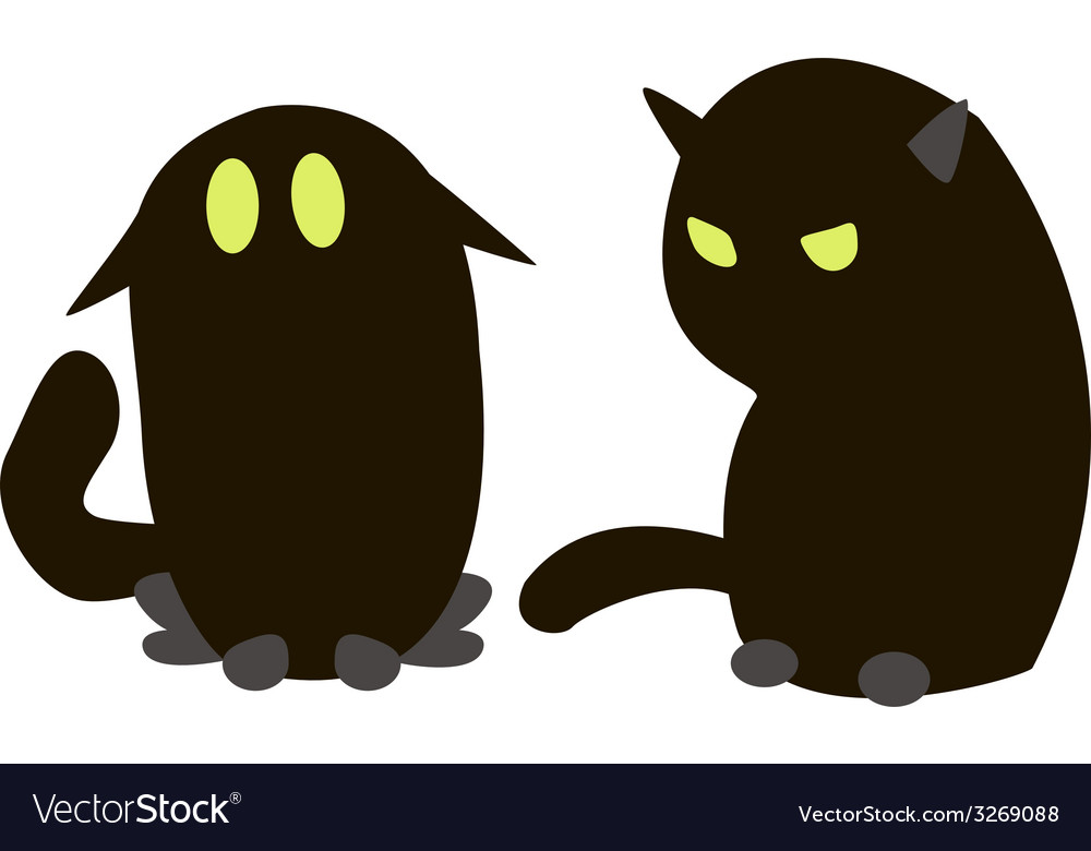 Blac cats vector | Price: 1 Credit (USD $1)