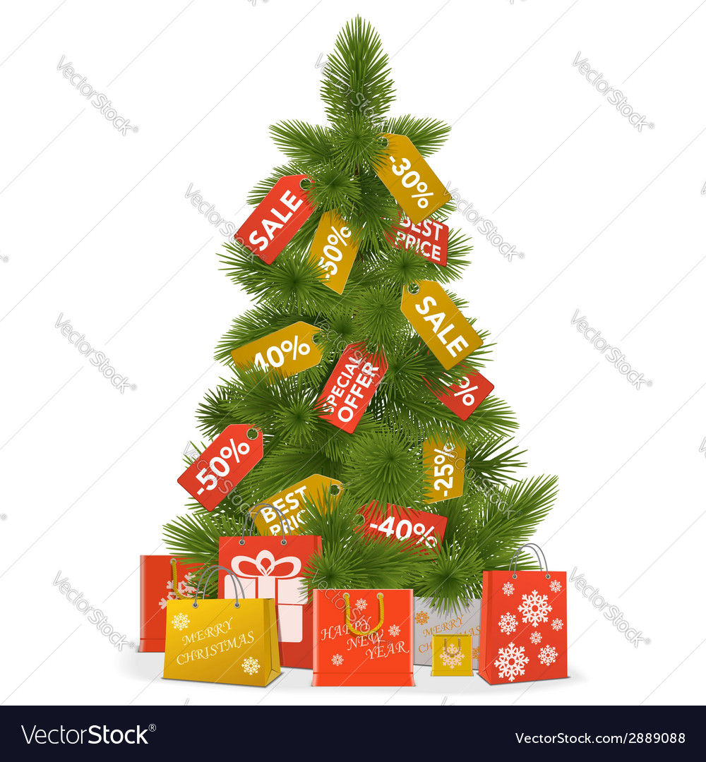 Christmas sale concept vector | Price: 1 Credit (USD $1)