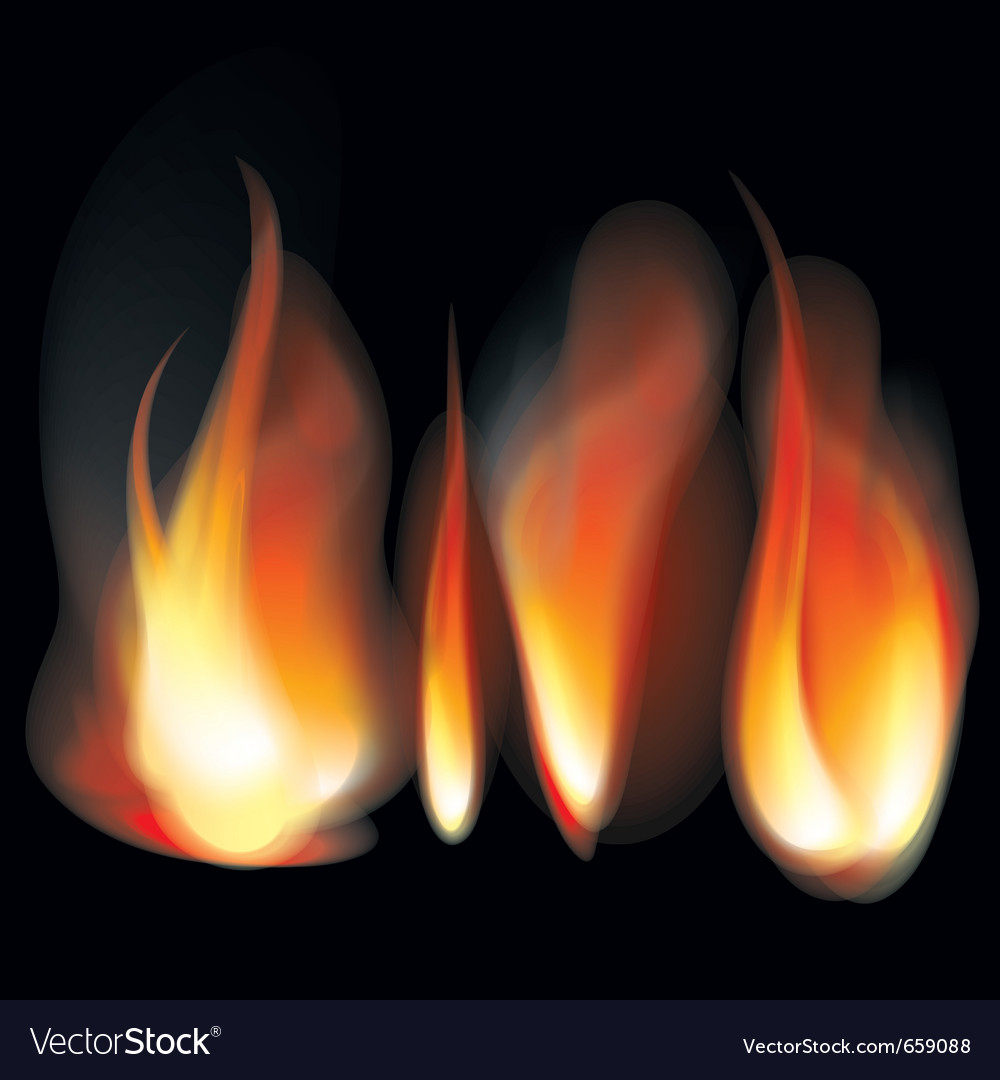 Flame tongues vector | Price: 1 Credit (USD $1)