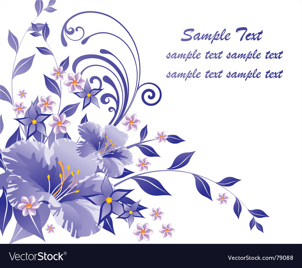 Floral document vector | Price: 1 Credit (USD $1)