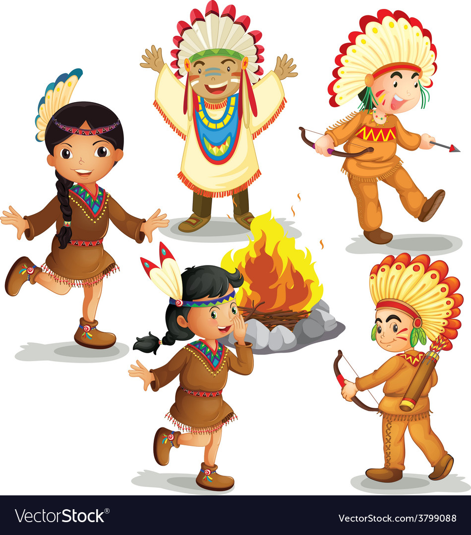 Indians vector | Price: 1 Credit (USD $1)