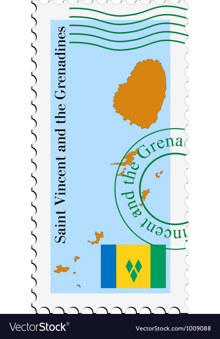 Mail to-from saint vincent and grenadines vector | Price: 1 Credit (USD $1)