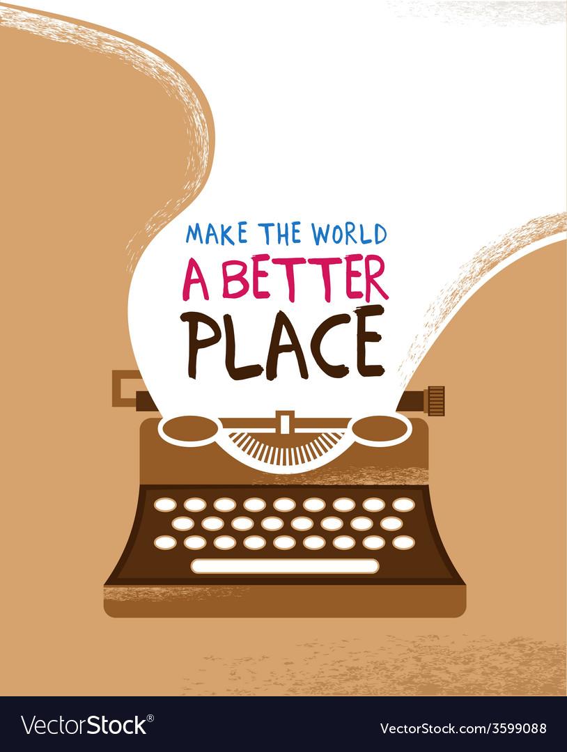 Vintage typewriter poster vector   Price: 1 Credit (USD $1)