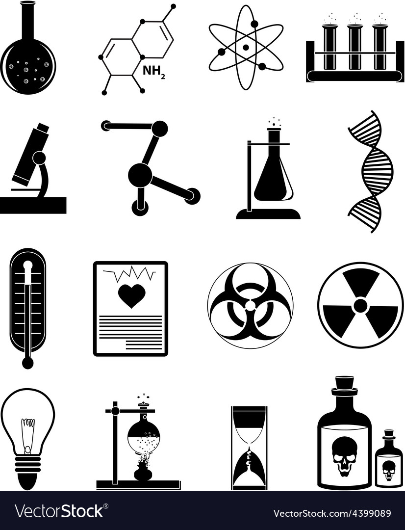 Chemistry science icons set vector | Price: 3 Credit (USD $3)