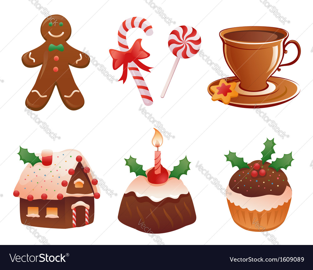 Christmas desserts vector | Price: 1 Credit (USD $1)