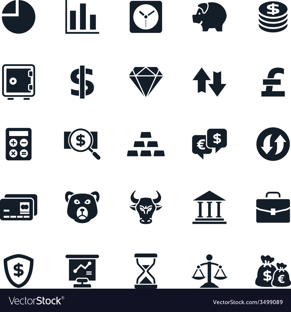 Finance and stock icon vector | Price: 1 Credit (USD $1)