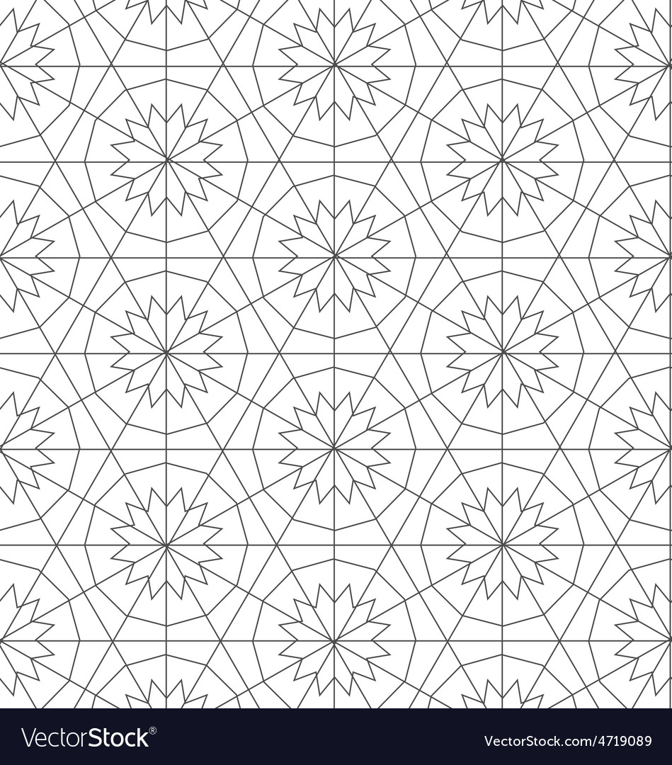 Geometric repeatable pattern background design vector | Price: 1 Credit (USD $1)