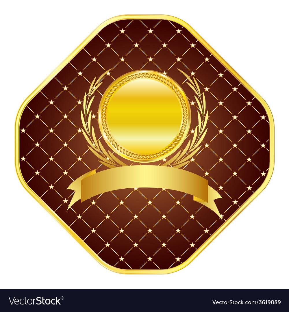 Golden template vector | Price: 1 Credit (USD $1)