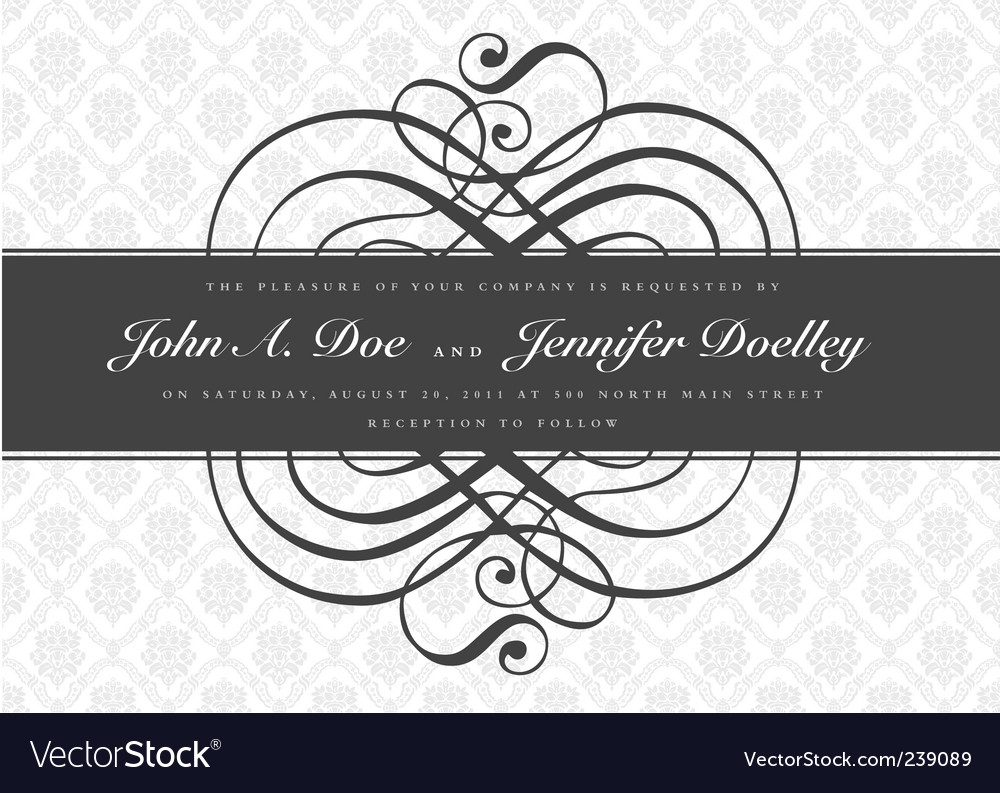 Gray ornate swirl banner vector | Price: 1 Credit (USD $1)