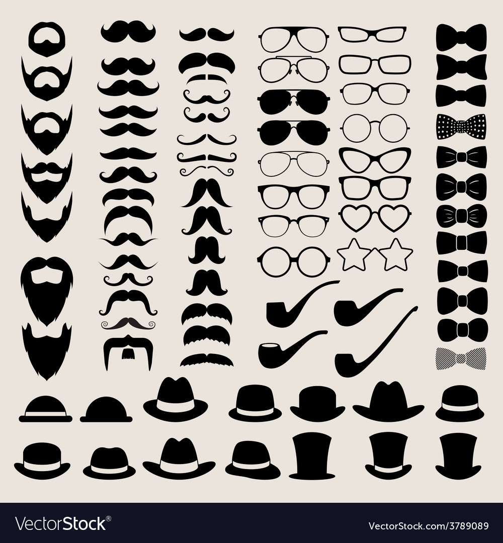 Hipster style infographics elements and icons set vector | Price: 1 Credit (USD $1)