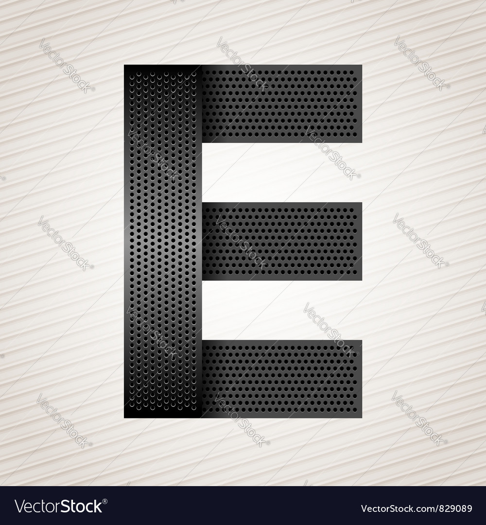 Letter metal ribbon - e vector | Price: 1 Credit (USD $1)