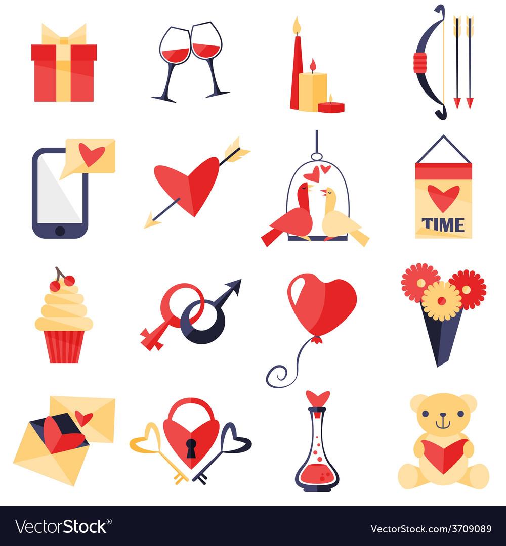 Love symbols set vector   Price: 1 Credit (USD $1)