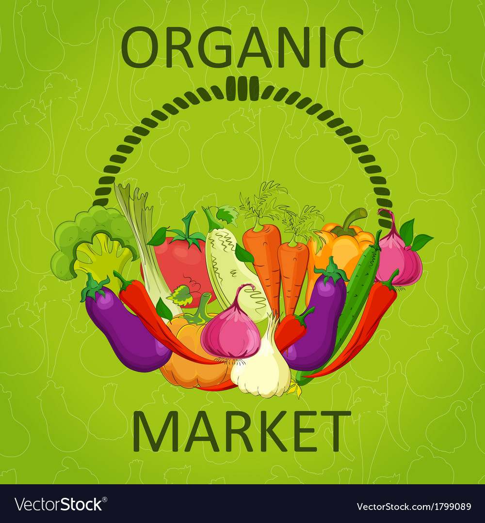 Organic market vector | Price: 1 Credit (USD $1)